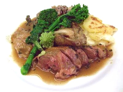 仏産 鳩肉のロースト トリュフソース