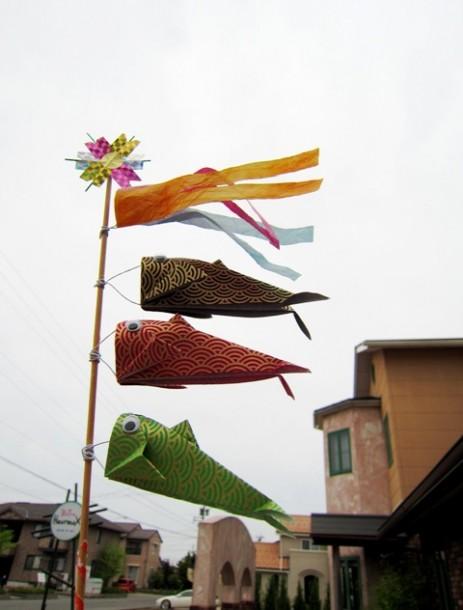♪ 屋根よ~りた~か~い 鯉のぼり~ ♪
